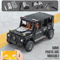 レゴテクニック 互換 ジープ モーター セット ラジコン オフロード 動く LEGO風 車 ブロックセット スマホで操縦可能