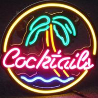 【ネオンライト】 BAR ヤシの木+『Cocktails』 ナイトクラブ ネオンサイン 【パブ】