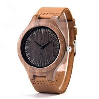 【DODO DEER】時計 レザーバンド A13 メンズ 木製 クォーツ【2色】