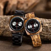 BOBO BIRD 木製腕時計 ユニセックス ボボバード 海外高級ブランド 日付 曜日 表示 レディース メンズ クォーツ S06 個性的なデザインが光る 3色展開