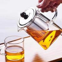ティーポット 耐熱ガラス 洗いやすい おしゃれ お茶 紅茶 コーヒー アウトドア 550ml かわいいデザインで食卓を彩る★