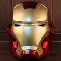 アイアンマン コスプレ オートバイヘルメット フルフェイス マスク LEDライト付き かっこいいグッズ 高品質