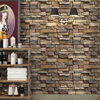 壁紙 ウォールステッカー レンガ シール 防水 はがせる キッチン リビング バスルーム 45cm×10m