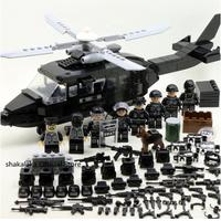 レゴ SWAT ヘリコプター スワット LEGO互換品 ミニフィグ 犬 盾 銃 ナイフ 武器大量 第二次世界大戦 陸軍 軍隊 兵士 兵隊 戦争 WW2 レゴ風