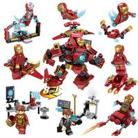 レゴ互換 ハルクバスター ウルトロンエディション フィギュア アイアンマン インフィニティウォー 8体