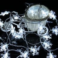 【雪の結晶】 ストリングライト 白 LED 【20個】