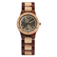 YISUYA ブレスレットウォッチ 木製腕時計 クォーツ 木製バンド レディースウォッチ