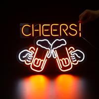 【ネオンライト】 ビール 『CHEERS!』 乾杯 アメリカン 居酒屋 【ネオンサイン】