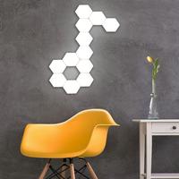LMID LEDランプ 六角形 ウォールランプ タッチ式 センシティブ ナイトライト 壁ランプ ホテル レストラン リビング ダイニング ベッドルーム 3000K 4000K 6500K 10個セット