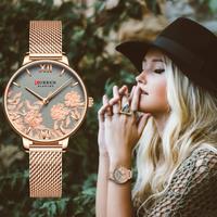 CURREN カレン 腕時計 防水 超かわいい 本革ベルト ステンレスベルト 日本製クォーツ 海外高級ブランド 選べる5種類