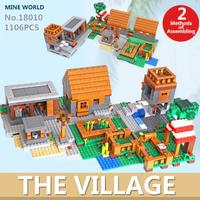 レゴ互換 マインクラフト ザ・ヴィレッジ 21128 マイクラ The Village 互換品 LEGO風 ブロックセット 知育玩具 1106ピース