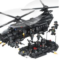 レゴ 風 LEGO互換 SWAT部隊 輸送ヘリ他 豪華セット 軍隊 ヘリコプター スワット 警察特殊部隊 ミリタリー好きにも