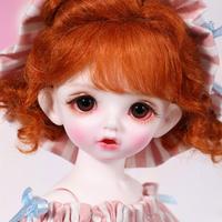 球体関節人形 BJD 1/6 フルセット 本体+眼球+服+靴+ウィッグ メイクアップ済み 美少女 カスタムドール ゆるい服装 26cm 選べる2色