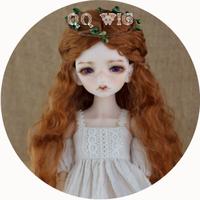 BJD ウィッグ ロング ウェーブ 茶色 球体関節人形 カスタムドール 人形用 SD DD MSD YOSD 選べる4サイズ