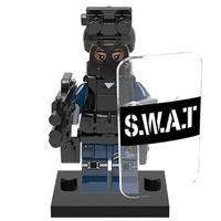レゴ互換 スワット ミニフィグ 10体セット SWAT ミリタリー 盾 シールド 銃 ナイフ 重装備 ブロックセット LEGO風