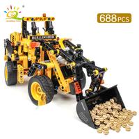 レゴ互換 ブルドーザー 工事現場 テクニック 乗り物 ブロックセット 建築 知育玩具 LEGO風 黄 黒 34cm