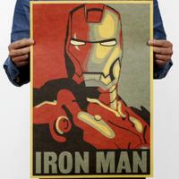 アイアンマン ポスター IRON MAN 絵 レトロとの絶妙な融合★ 入手困難 52cm×36cm