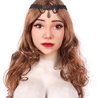 フィメールマスク 女装 シリコン マスク リアル 男の娘 変装 仮装 仮面 メイク 男性用 コスプレ 性転換 トランスジェンダー 美人仮面 パーティー ハロウィン★