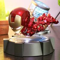 飛ぶアイアンマンフィギュア LED発光 回転フライ 磁気フローティング MK 浮遊 マーク アベンジャーズ マーベル 海外 ハイクオリティ 人気★