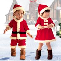 【サンタクロース】 コスプレ 赤ちゃん ベビー クリスマス 衣装 【10サイズ展開】