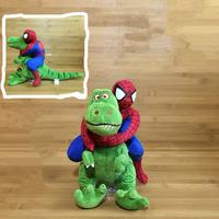 スパイダーマン カーアクセサリー フィギュア トイストーリー レックス ぬいぐるみ 人形 車 大人気★