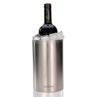 ワインクーラー 1本 真空二重構造 結露しない 保冷 ポリッシュ仕上げ ステンレス アイスバケット シャンパン シルバー