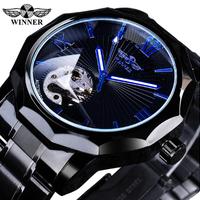 T-WINNER メンズ腕時計 スケルトン 機械式 自動巻き 高級 レトロ ステンレス 本革ベルト 発光 海外トップブランド かっこいい文字盤 選べる3種類