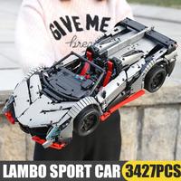 レゴテクニック ランボルギーニ スポーツカー レゴ互換 ヴェネーノ・ロードスター シルバーグレー 車 知育玩具 乗り物 LEGO風 プレゼントにも