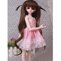 球体関節人形 レースドレス 可愛いピンク BJD 衣装 服 カスタムドール 美しい 癒し 1/3 1/4 1/6 選べる3サイズ