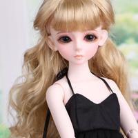 球体関節人形 BJD 1/4 美少女 キャミソール フルセット 本体+眼球+服+靴+ウィッグ メイクアップ済み カスタムドール 40cm 選べる2色