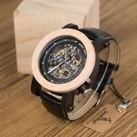 ボボバード 時計 スケルトン 木製腕時計 メンズ BOBO BIRD 自動巻き 機械式 スチームパンク ヴィンテージ アンティーク 革ベルト 海外トップブランド K14