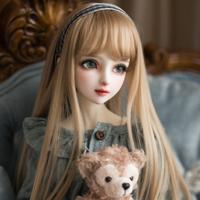 BJD ウィッグ 人形用 カスタムドール 女性 ロング SD DD YOSD MSD シャンパン ミルクゴールデン 選べる3サイズと2色★