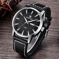【BENYAR】 クォーツ 腕時計 メンズ 3気圧防水 本革ベルト 日付 週表示 おしゃれ 海外高級ブランド 選べる4色