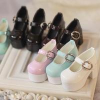 BJD 靴 ハイヒール 1/4 選べる5色 球体関節人形 カスタムドール アクセサリー 人形用 MSD SD 長さ約6cm