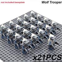 レゴ互換 スターウォーズ トルーパー ウルフ ミニフィグ大量 21体セット フィギュア 剣 武器 人形 大人気 STAR WARS 映画グッズ おもちゃ LEGO風 海外