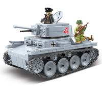 レゴ互換 戦車 LT-38 ミニフィグ ドイツ軍 ライトタンク 軍用車両 第二次世界大戦 WW2 戦争 兵士 ミリタリー LEGO風 知育 ブロック セット