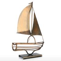 【Tooarts】 ヨット ワインホルダー 船 1本用 金属製 クラシック ワインラック 【アイアン】