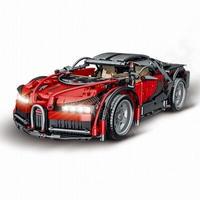 【レゴ互換】ブガッティ スポーツカー テクニック レーシングカー ブロックセット 赤 青【LEGO風】