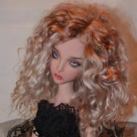 球体関節人形 美少女 1/4 本体+眼球+メイクアップ済み BJD カスタムドール 女の子 美少女 かわいい 選べる6色