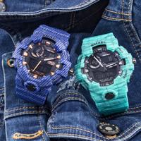 【ゴツくてワイルド】 SMAEL 50m防水 ミリタリー腕時計 メンズ 多機能 クォーツ クロノグラフ 耐衝撃性 LED 日付表示 スポーツウォッチ アウトドア 8001 人気 【タフ】