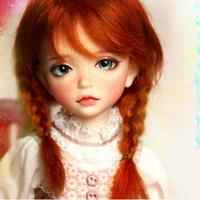 カスタムドール BJD 本体+眼球+メイクアップ済 球体関節人形 女の子 そばかす 幼SDサイズ 1/6 ノーマルスキン
