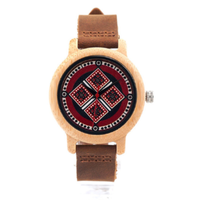 BOBO BIRD バンブーウォッチ 本革ベルト ソフトレザーバンド 竹製腕時計 クォーツ レディース 温もりのあるかわいいデザイン