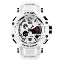 【カジュアル】 SMAEL S-SHOCK メンズ防水腕時計 LED Sショック クロノグラフ クォーツ スポーツ ミリタリーウォッチ 高級 1809 【選べる3色】