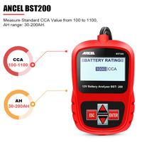 ANCEL BST200 バッテリーテスター 12V 車 診断ツール 自動車 スキャンツール 英語 多言語に対応