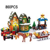 レゴ互換 クリスマス アドベントカレンダー 馬 犬 ミニフィグ ソリ 雪 家 車 木 ツリー ブロックセット LEGO風
