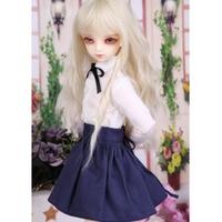 球体関節人形 衣装 スカート+シャツ BJD カスタムドール 服 シンプル 可愛い 白 黒 1/3 1/4 1/6 選べる3サイズ