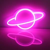 【ネオンライト】 惑星 LED 土星 居酒屋 ネオンサイン 【部屋】