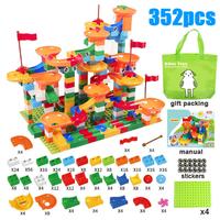 Kitoz レゴ互換 スロープ ボール転がし 迷路 ブロックセット 玉転がし DIY 知育玩具 組み立て 楽しみながら脳を刺激 知育におすすめ 352ピース
