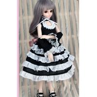 球体関節人形 ドレス フリフリ BJD 服 1/3 1/4 1/6 BJD カスタムドール 衣装 人形用 可愛い 萌え 選べる3サイズ