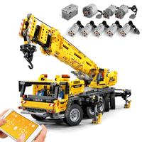 レゴ互換 ラジコンみたいに動く クレーン テクニック モービル・クレーンMK II 42009 モーター付き LEGO風 ブロックセット
